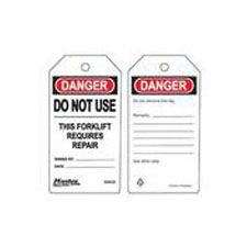 Master Lock S4032 Safety Tag danger do not use this forklift
