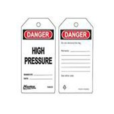 Master Lock S4035 Safety Tag High Pressure