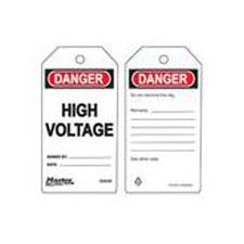 Master Lock S4036 Safety Tag High Voltage