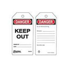 Master Lock S4038 Safety Tag Keep Out