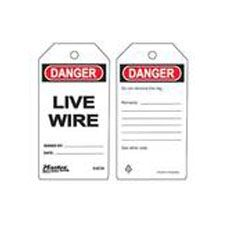 Master Lock S4039 Safety Tag Live Wire