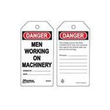 Master Lock S4042 Safety Tag Men Working on Machinery