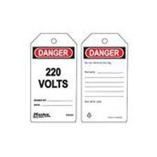 Master Lock S4044 Safety Tag 220 Volts