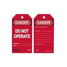 Master Lock S4046 Safety Tag red danger do not operate