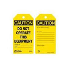 Master Lock S4050 Safety Tag caution do not operate equipment