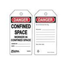 Master Lock S4056 Safety Tag Confined Space