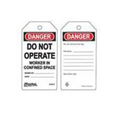Master Lock S4057 Safety Tag workmen in confined space