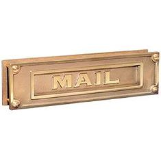 Residential 4075 Deluxe Solid Brass Mail Slots