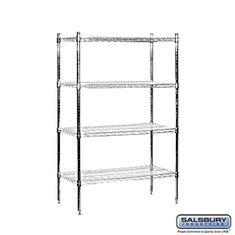 Residential 9534S-CHR Includes 4 Posts with Adjustable Feet and 4 Wire Shelves