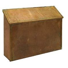 Residential Antique Brass Mailbox Standard Surface Mounted Horizontal Style