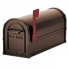 Residential Antique Rural Mailbox with 1/8 Inch Thick Extruded and Die Cast Aluminum