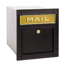 Residential Column Mailbox Locking with Durable Powder Coated Finish