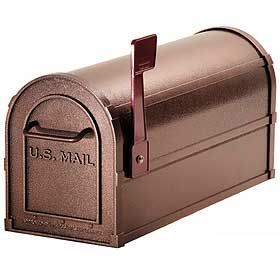 Residential Deluxe Rural Mailbox with 1/8 Inch Thick Extruded and Die Cast Aluminum