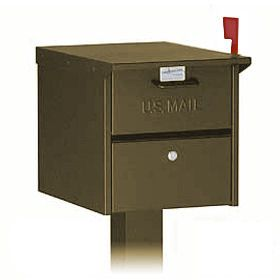 Residential Designer Roadside Mailbox with Front and Rear Access Locking Door