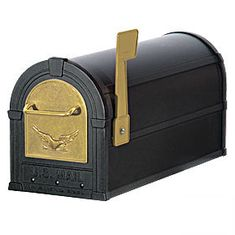 Residential Eagle Rural Mailbox with 1/8 Inch Thick Extruded and Die Cast Aluminum