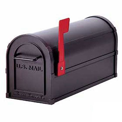 Residential Heavy Duty Rural Mailbox with 1/8 Inch Thick Extruded and Die Cast Aluminum
