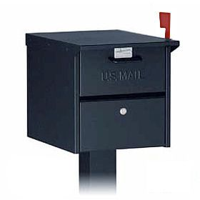 Residential Roadside Mailbox with Front and Rear Access Locking Door