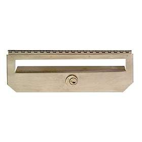 Residential Security Kit Option for Stainless Steel Mailbox Vertical Style with (2) Keys