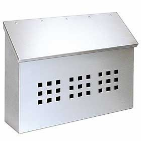 Residential Stainless Steel Mailbox Decorative Horizontal Style