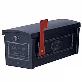 Residential Townhouse Mailbox Post Style with Durable Powder Coated Finish
