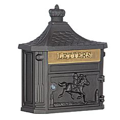Residential Victorian Mailbox Surface Mounted with Die Cast Aluminum