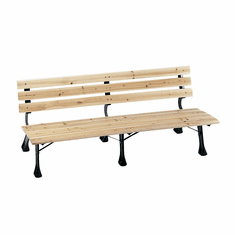 Safco 6 Foot Bench With Backrest