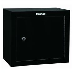 Safes Security Plus Steel Pistol and Ammo Key Lock Cabinet in Black