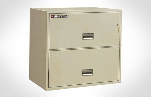 Sentry Safe 2L3010 Letter Lateral 2-Drawer Fire File 30 inch Wide