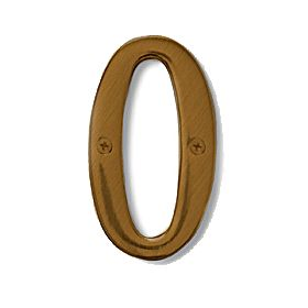 Signage 1220 4 Inch Solid Brass Number