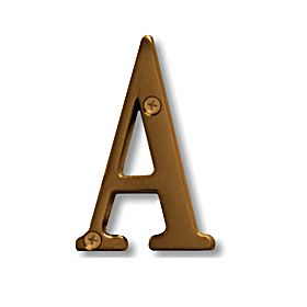 Signage 1240 3 Inch Solid Brass Letter