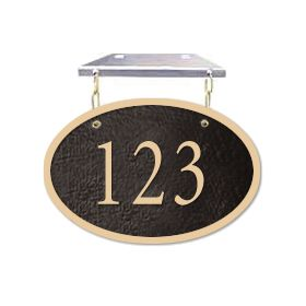 Signage 1335 Cast Aluminum Small Oval Hanging Plaques