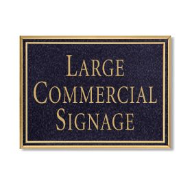 Signage 1510 Large Commercial Rectangular Sign with Surface Mounted