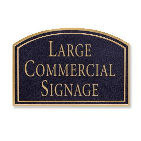 Signage 1520 Large Commercial Arched Sign with Surface Mounted