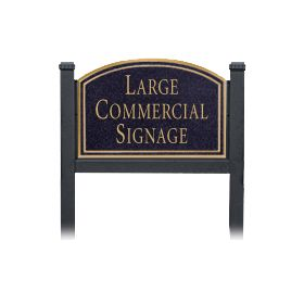 Signage 1522 Large Commercial Arched Sign with Black Post Mounted
