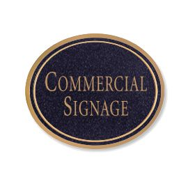 Signage 1530 Large Commercial Oval Sign with Surface Mounted