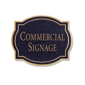 Signage 1540 Large Commercial Classic Sign with Surface Mounted