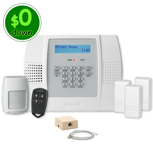 $0-Down Honeywell LYNX Plus L3000 Phone Line & VoIP Wireless Security System