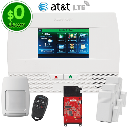$0-Down Honeywell LYNX Touch L5210 Cellular AT&T LTE Wireless Security System