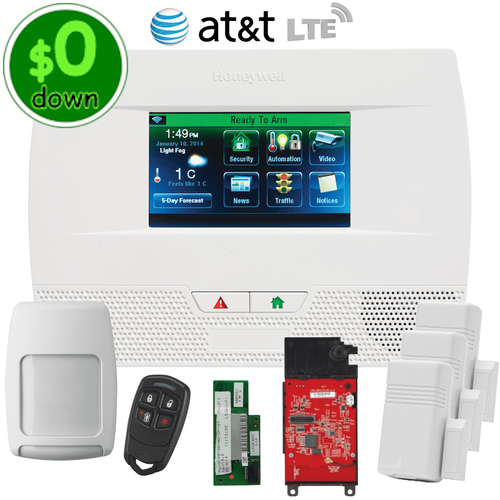 $0-Down Honeywell LYNX Touch L5210 Dual-Path (WiFi & AT&T LTE) Wireless Security System