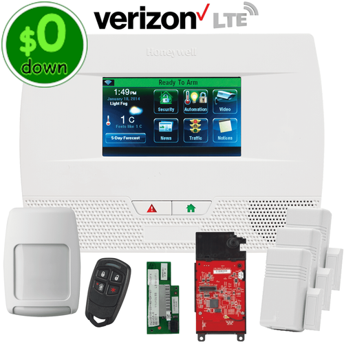 $0-Down Honeywell LYNX Touch L5210 Dual-Path (WiFi & Verizon LTE) Wireless Security System