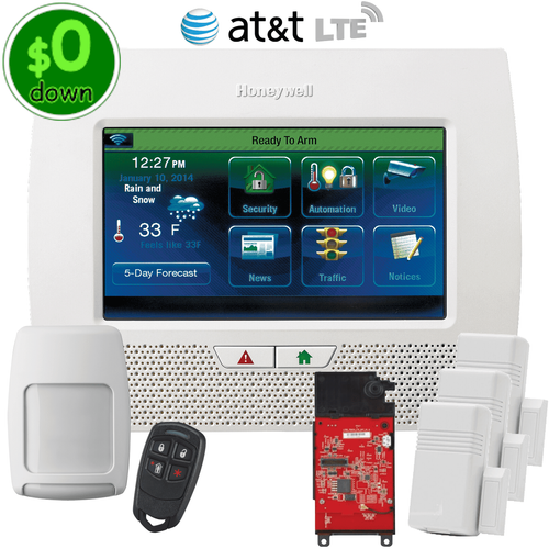 $0-Down Honeywell LYNX Touch L7000 Cellular AT&T LTE Wireless Security System