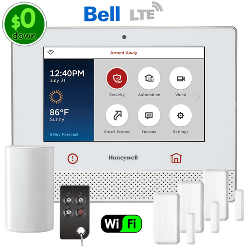 $0-Down Honeywell Lyric Controller Dual-Path Wireless Security System Kit (for Bell LTE Canada Network)
