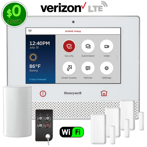 $0-Down Honeywell Lyric Controller Dual-Path Wireless Security System Kit (for Verizon LTE Network)