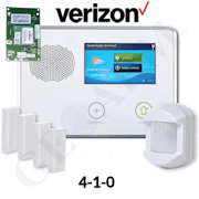2GIG-GCKIT410 - GC2 Wireless Cellular Wireless Security System Kit (w/Verizon CDMA Alarm.com Communicator)