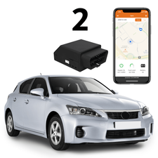 2GIG Standalone GPS Connected 2-Cars Tracking (Powered by Alarm.com App)