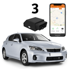 2GIG Standalone GPS Connected 3-Cars Tracking (Powered by Alarm.com App)