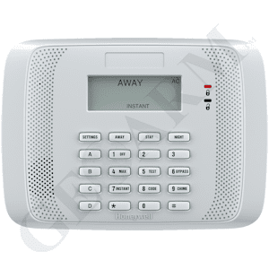 6152RF - Honeywell Fixed-English Hardwired Alarm Keypad (w/Integrated 16-Zone Wireless Receiver)