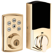 98880-006 - Kwikset SmartCode 888 Touchpad Door Deadbolt (w/Z-Wave Plus 500-Chipset in Polished Brass Finish)