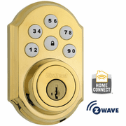 99100-004 - Kwikset Z-Wave SmartCode Wireless Deadbolt (Polished Brass)