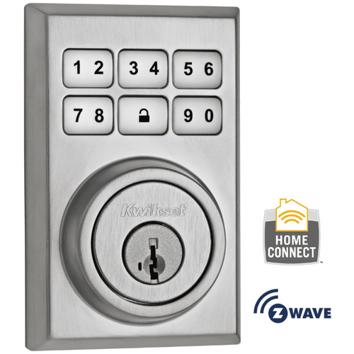 99100-012 - Kwikset Z-Wave SmartCode Wireless Contemporary Deadbolt (Satin Chrome)